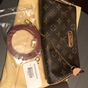 Louis Vuitton Eva clutch monogram canvas